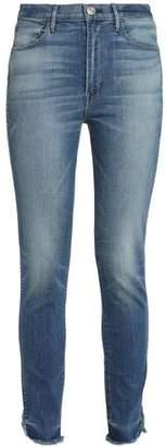 3x1 Faded Mid-Rise Slim-Leg Jeans