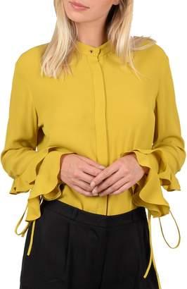 Molly Bracken Premium Ruffle-Sleeve Blouse