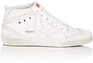 Golden Goose Women's Mid Star Suede Sneakers - White
