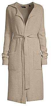 ATM Anthony Thomas Melillo Women's Hooded Wool-Blend Tie-Front Cardigan