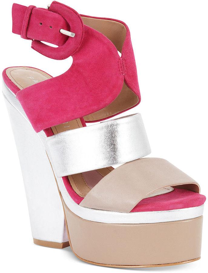 Paris Hilton Catriona Platform Wedge Sandals