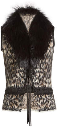 Roberto Cavalli Vest with Wool, Mohair, Alpaca and Fur