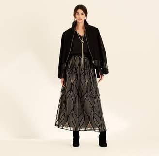 Amanda Wakeley Cocoa Military Style Wool Biker Jacket