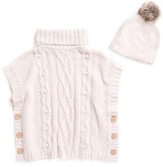 Little Girls Turtleneck Sweater & Matching Hat