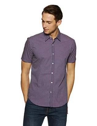 Casual Terrains Men's Tailored Slim-Fit Short-Sleeve Button-Down Shirt