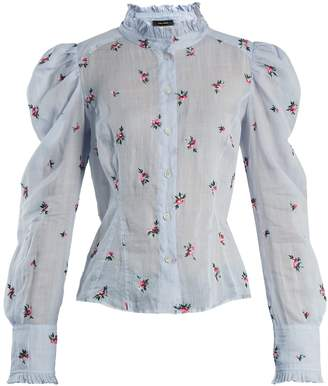 Isabel Marant Utah floral-embroidered voile blouse