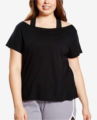 Soffe Curvy Plus Size Off-The-Shoulder Dance T-Shirt