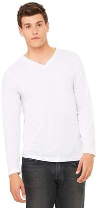 B.ella + Canvas Unisex Jersey Long-Sleeve V-Neck T-Shirt, XS