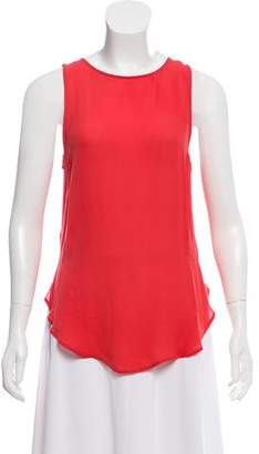 Halston Sleeveless Silk Top