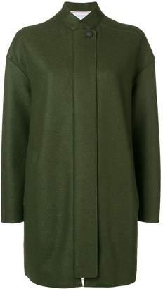 Harris Wharf London front zip coat