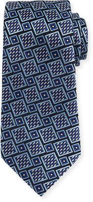 Ermenegildo Zegna Basketweave Geometric Tie, Navy $195 thestylecure.com