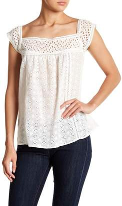 Hazel Eyelet Crochet Cap Sleeve Top