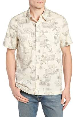 J.Crew J. Crew Regular Fit Safari Print Sport Shirt