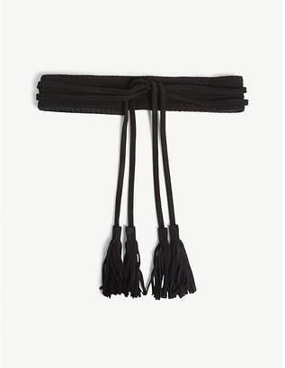 Maje Anoushka suede tassel-tie belt