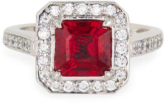 FANTASIA Synthetic Ruby Princess Ring Size 6-8