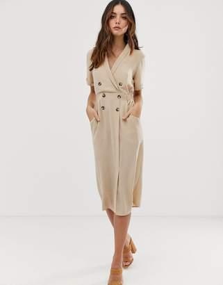 Asos Design DESIGN tux midi dress