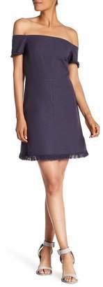 Rebecca Taylor Frayed Hem Suit Dress
