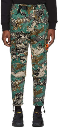 Diesel Green Camo P-Luza Cargo Trousers