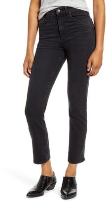 Paige Sarah High Waist Slim Straight Leg Jeans