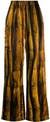 MM6 MAISON MARGIELA fur-print flared trousers