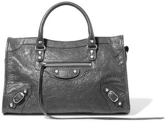 Balenciaga Classic City Textured-leather Tote - Gray