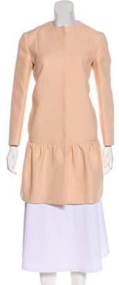 Miu Miu Collarless Knee-Length Coat
