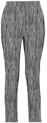 Max Mara Printed Cotton-Blend Cloqué Straight-Leg Pants