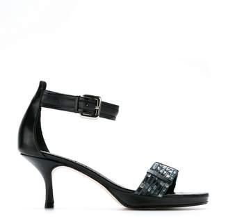 Sarah Chofakian embellished kitten heel sandals