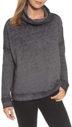 Caslon Burnout Back Pleat Sweatshirt (Regular & Petite)