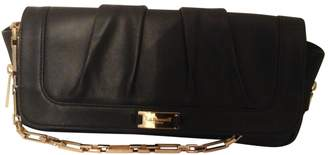 LK Bennett Black Leather Clutch Bag