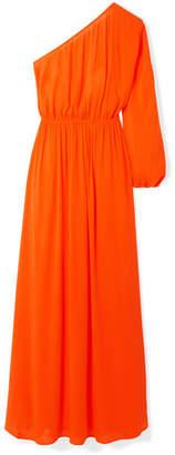 Mara Hoffman Vera One-shoulder Crinkled-voile Maxi Dress - Orange