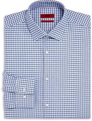HUGO Textured Check Slim Fit Dress Shirt