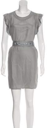 Etoile Isabel Marant Silk Embroidered Dress