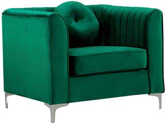 Isa Belle Verlaine Isabelle Green Velvet Chair