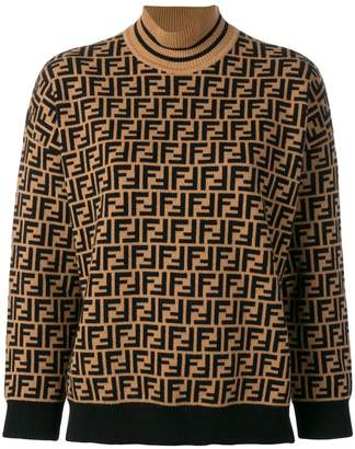 Fendi FF logo turtle-neck sweater