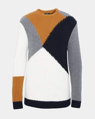 Theory Wool Graphic Intarsia Sweater