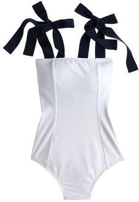 J.Crew Grosgrain Tie Shoulder One-Piece Swimsuit