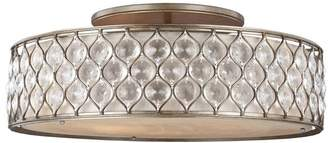 Feiss Lucia 6-Light Semi-Flush Mount, Burnished Silver