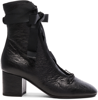 Valentino Crinkled Leather Ballet Booties $995 thestylecure.com