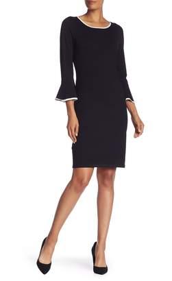 Modern American Designer 3/4 Bell Sleeve Dress