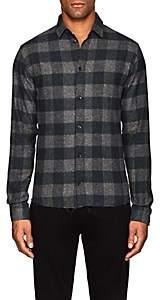 IRO Men's Calfo Cotton Flannel Shirt-Gray Size L