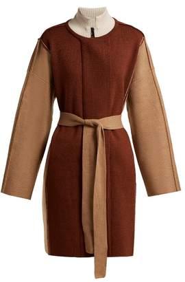 Chloé Belted Wool Coat - Womens - Brown Multi