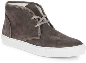 Saks Fifth Avenue Made In Italy Faux Shearling-Lined Chukka Sneakers