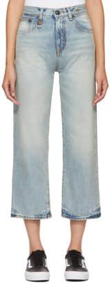 R 13 Blue Camille High-Rise Jeans