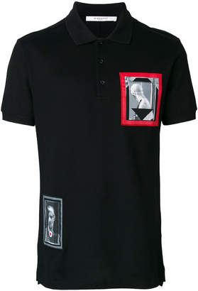 Givenchy patch detail polo shirt