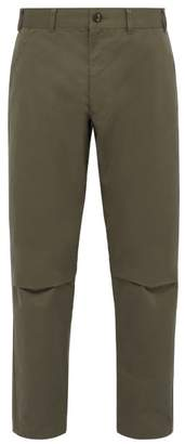 Comme des Garcons Tapered Cotton Trousers - Mens - Green