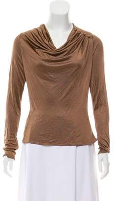 Luca Luca Long Sleeve Cowl Neck Top w/ Tags