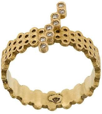 Savoir Joaillerie 18kt yellow gold and diamonds She ring