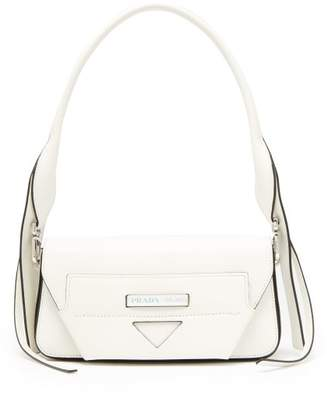 Prada Manuelle Leather Shoulder Bag - Womens - White