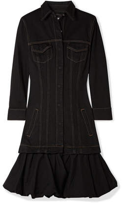 Marques Almeida Marques' Almeida - Ruffled Denim Mini Dress - Black